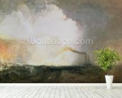 Staffa, Fingals Cave, 1832 (oil on canvas) wallpaper mural in-room view