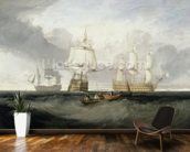 The Victory Returning from Trafalgar, 1806 (oil on canvas) wall mural kitchen preview