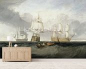 The Victory Returning from Trafalgar, 1806 (oil on canvas) wall mural living room preview