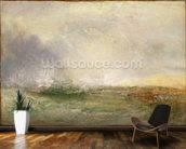 Stormy Sea Breaking on a Shore, 1840-5 (oil on canvas) wallpaper mural kitchen preview