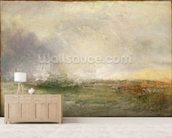 Stormy Sea Breaking on a Shore, 1840-5 (oil on canvas) wallpaper mural living room preview