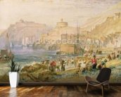 St. Mawes, Cornwall, c.1823 (w/c on paper) mural wallpaper kitchen preview