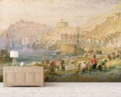St. Mawes, Cornwall, c.1823 (w/c on paper) mural wallpaper living room preview