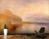 Inverary Pier, Loch Fyne, Morning, c.1840-50 (oil on canvas) wall mural kitchen preview