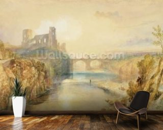 Barnard Castle (w/c, gouache, pen and ink on paper) wallpaper mural