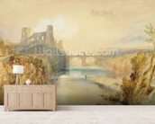 Barnard Castle (w/c, gouache, pen and ink on paper) wallpaper mural living room preview