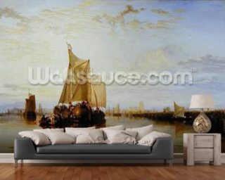 Dort or Dordrecht: The Dort Packet-Boat from Rotterdam Becalmed, 1817-18 (oil on canvas) wall mural