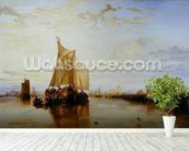 Dort or Dordrecht: The Dort Packet-Boat from Rotterdam Becalmed, 1817-18 (oil on canvas) wall mural in-room view