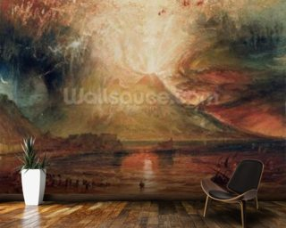 Mount Vesuvius in Eruption Mural Wallpaper Wall Murals Wallpaper