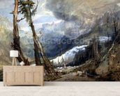 Mere de Glace, in the Valley of Chamouni, Switzerland, 1803 (w/c and graphite with gum on wove paper) wall mural living room preview