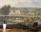 View of Hampton Court, Herefordshire, from the south-east, c.1806 (w/c over graphite on wove paper) mural wallpaper kitchen preview