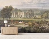 View of Hampton Court, Herefordshire, from the south-east, c.1806 (w/c over graphite on wove paper) mural wallpaper living room preview