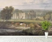 View of Hampton Court, Herefordshire, from the south-east, c.1806 (w/c over graphite on wove paper) mural wallpaper in-room view