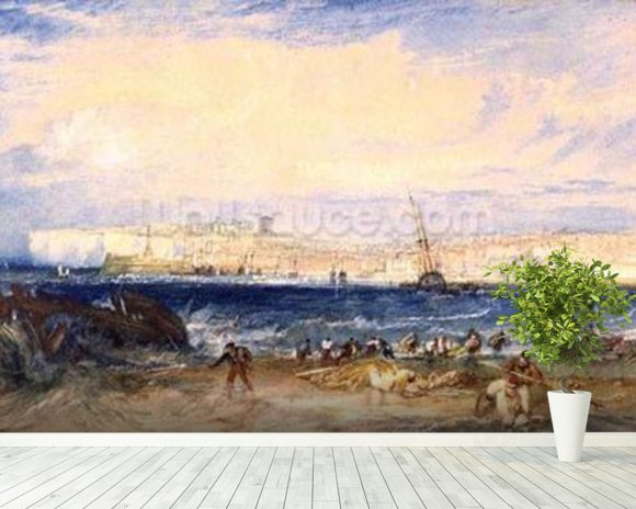 Margate, c.1822 (w/c on paper) wall mural room setting