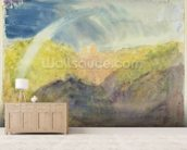 Crichton Castle (Mountainous Landscape with a Rainbow) c.1818 (w/c over graphite on wove paper) wallpaper mural living room preview