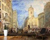 High Street, Edinburgh, c.1818 (w/c, pen, ink, graphite and scratching out on wove paper) mural wallpaper kitchen preview