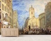 High Street, Edinburgh, c.1818 (w/c, pen, ink, graphite and scratching out on wove paper) mural wallpaper living room preview