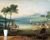 Lake Geneva and Mont Blanc, 1802-5 (w/c with scraping out, pen and ink on wove paper) wall mural kitchen preview