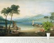 Lake Geneva and Mont Blanc, 1802-5 (w/c with scraping out, pen and ink on wove paper) wall mural in-room view