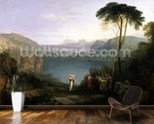 Lake Avernus: Aeneas and the Cumaean Sibyl, c.1814-5 (oil on canvas) wallpaper mural kitchen preview