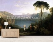 Lake Avernus: Aeneas and the Cumaean Sibyl, c.1814-5 (oil on canvas) wallpaper mural living room preview