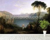 Lake Avernus: Aeneas and the Cumaean Sibyl, c.1814-5 (oil on canvas) wallpaper mural in-room view