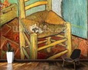 Vincents Chair, 1888 (oil on canvas) mural wallpaper kitchen preview