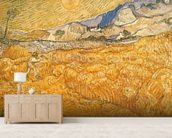 The Harvester (oil on canvas) wallpaper mural living room preview