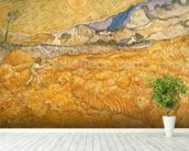 The Harvester (oil on canvas) wallpaper mural in-room view