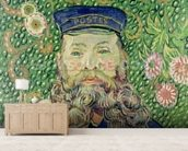 Portrait of the Postman Joseph Roulin, 1889 (oil on canvas) wallpaper mural living room preview