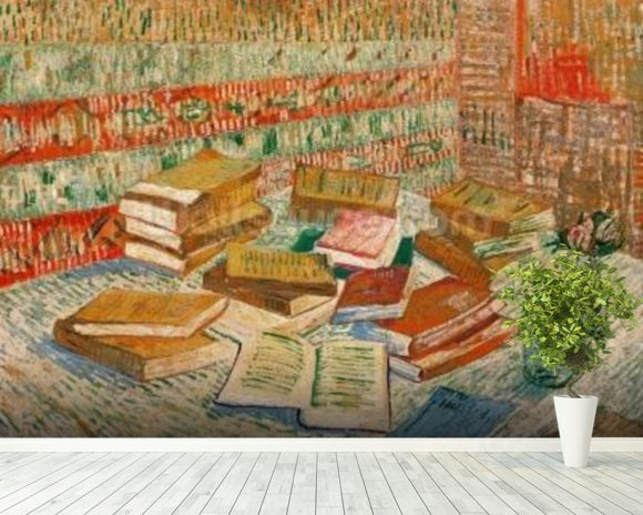 The Yellow Books, 1887 (oil on canvas) mural wallpaper room setting