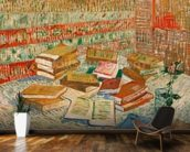 The Yellow Books, 1887 (oil on canvas) mural wallpaper kitchen preview