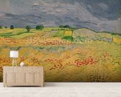 Plain at Auvers, 1890 (oil on canvas) wallpaper mural living room preview