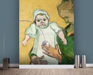 Madame Roulin and her baby, November 1888 (oil on canvas) mural wallpaper