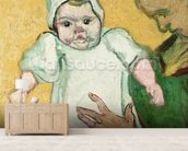 Madame Roulin and her baby, November 1888 (oil on canvas) mural wallpaper living room preview