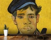 Young Man with a Hat, 1888 (oil on canvas) mural wallpaper kitchen preview
