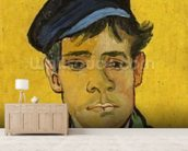 Young Man with a Hat, 1888 (oil on canvas) mural wallpaper living room preview