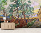 The Garden of St. Pauls Hospital at St. Remy, 1889 (oil on canvas) wall mural living room preview