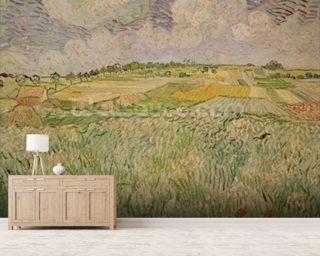 The Plain at Auvers Wallpaper Wall Murals
