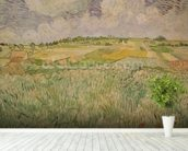 The Plain at Auvers, 1890 (oil on canvas) wall mural in-room view