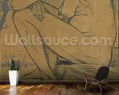 Sorrow, 1882 (pencil, pen and ink) wallpaper mural kitchen preview