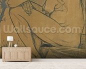 Sorrow, 1882 (pencil, pen and ink) wallpaper mural living room preview