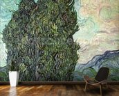 Cypresses, 1889 (oil on canvas) mural wallpaper kitchen preview