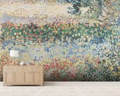 Garden in Bloom, Arles, July 1888 (oil on canvas) wall mural living room preview