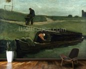 The Peat Boat, 1883 (oil on canvas) wallpaper mural kitchen preview