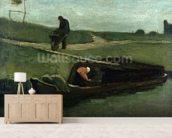 The Peat Boat, 1883 (oil on canvas) wallpaper mural living room preview