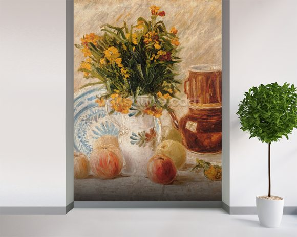 Still Life, 1887 (oil on canvas) wall mural room setting