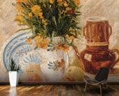 Still Life, 1887 (oil on canvas) wall mural kitchen preview
