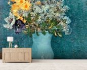 Vase of Flowers, 1887 (oil on canvas) wallpaper mural living room preview