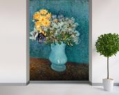 Vase of Flowers, 1887 (oil on canvas) wallpaper mural in-room view